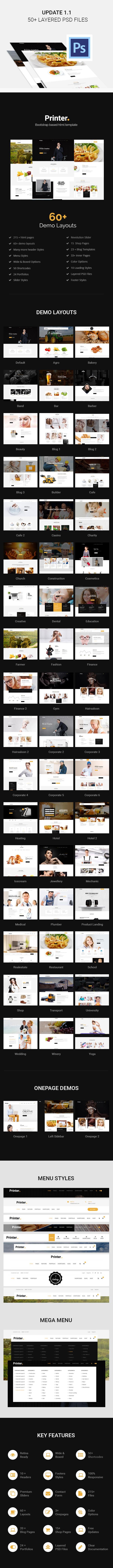 Printer - Responsive Multi-Purpose HTML5 Template - 2