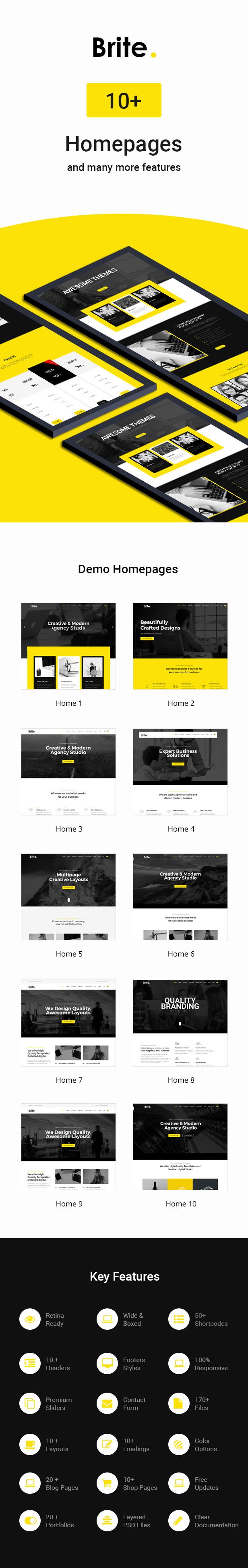 Brite | Responsive Multi-Purpose HTML5 Template | Business - 1