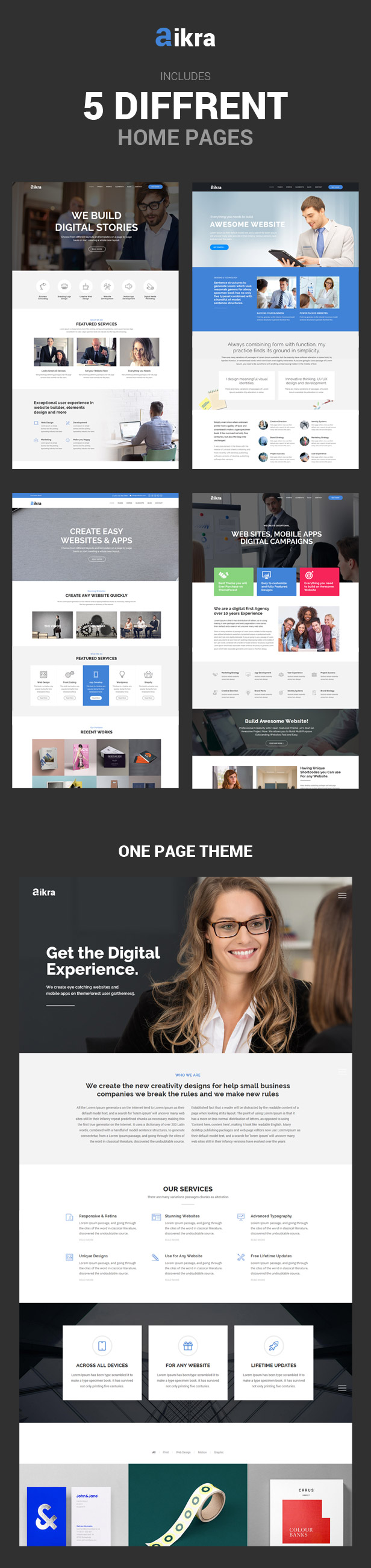 Aikra - The Ultimate Multipurpose Html5 Website Template - 1
