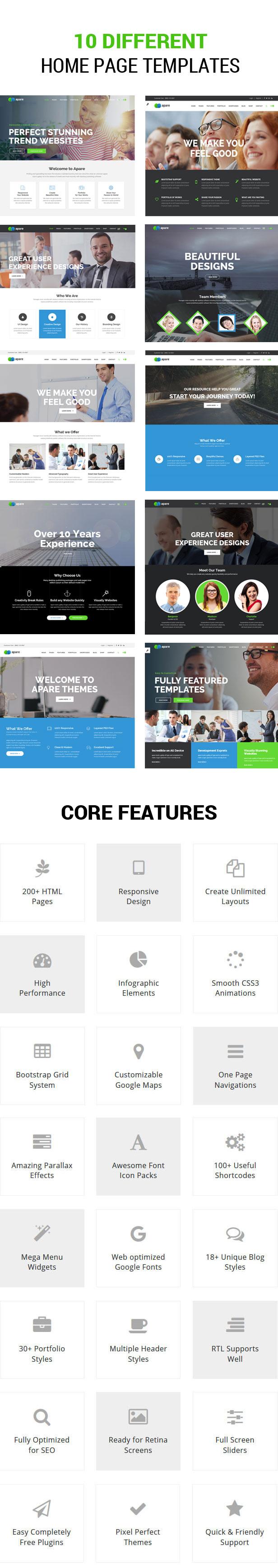 Apare - Responsive Multipurpose HTML5 Template - 3